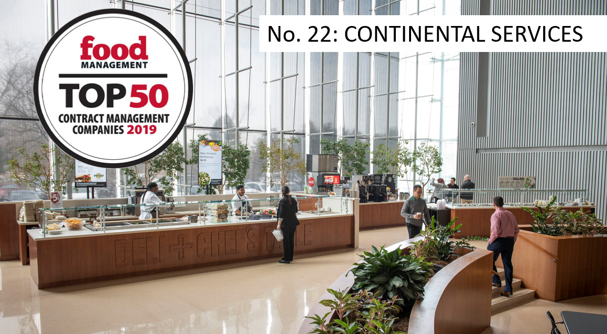 Continental Services Named to Food Management's 2019 Top 50 Report
